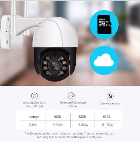 Câmera de segurança Exterior IP 1080p hd wifi . detecção humana