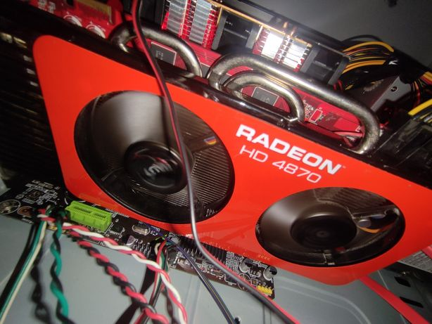 Karty graficzne Radeon hd4870 i coś tam