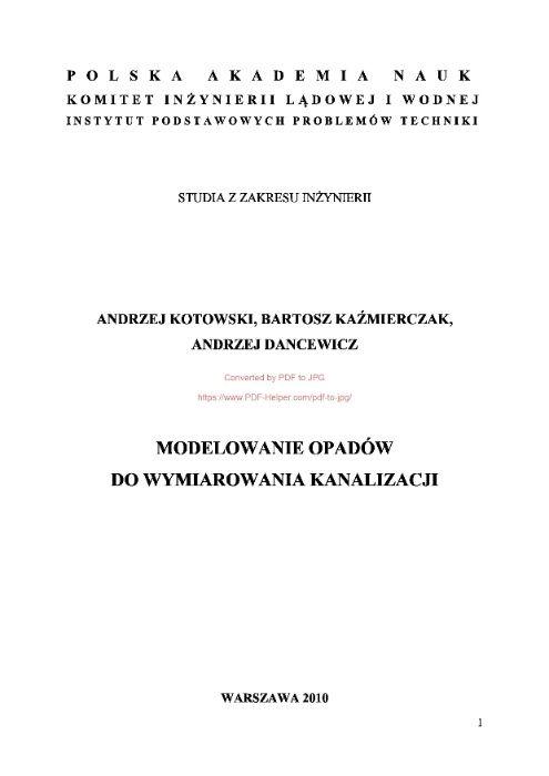 Modelowanie opadów do wymiarowania kanalizacji Białystok - image 1