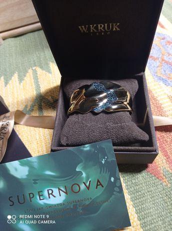 Nowa Bransoletka W.Kruk Supernova kolekcja szmaragdowa Pozłacana