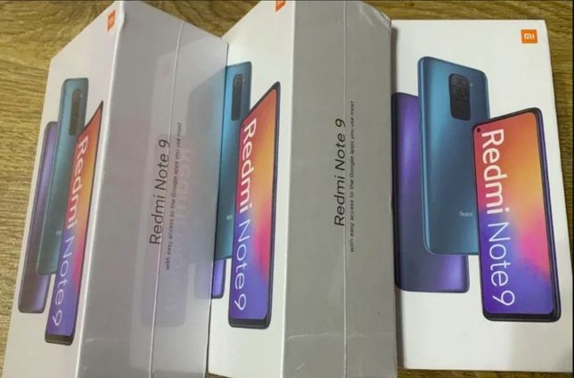 New Xiaomi Redmi Note 9 3/64 GB Global Запечатаны