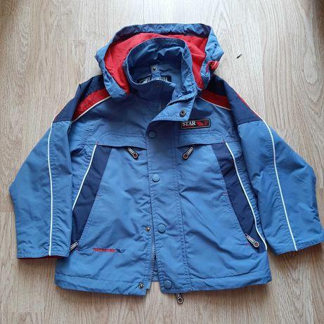 Куртка ветровка р 98-110, демисезонная, трансформер 2 в 1