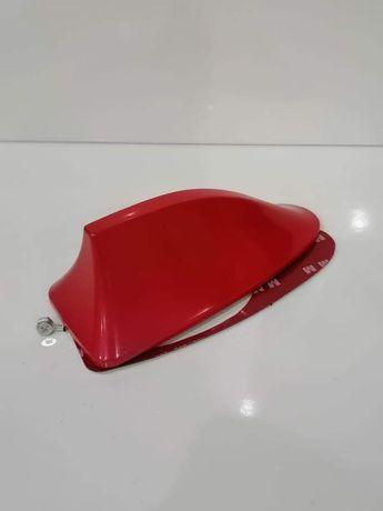Antena barbatana tubarão em vermelho
