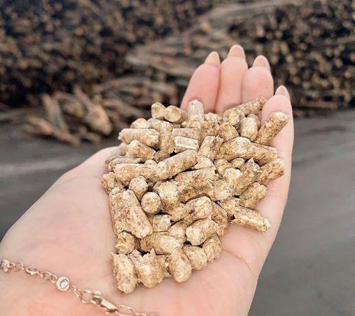 Пеллеты из сосны от производителя стандарта ENplus А1
