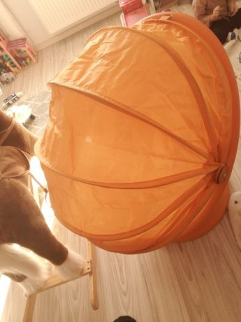 Fotel obrotowy Ikea pomarańczowy