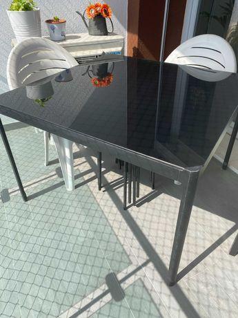Mesa Vidro e Metal IKEA