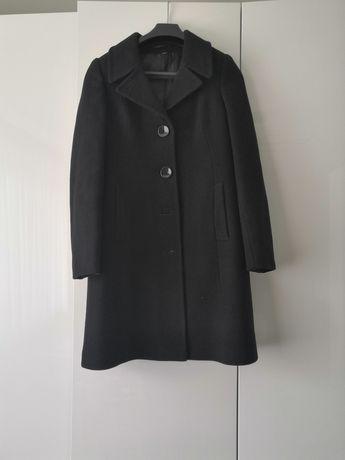 Płaszcz jednorzędowy, rozm. 38 czarny