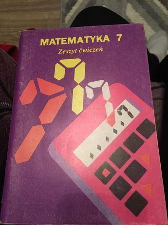Matematyka 7 zeszyt ćwiczeń