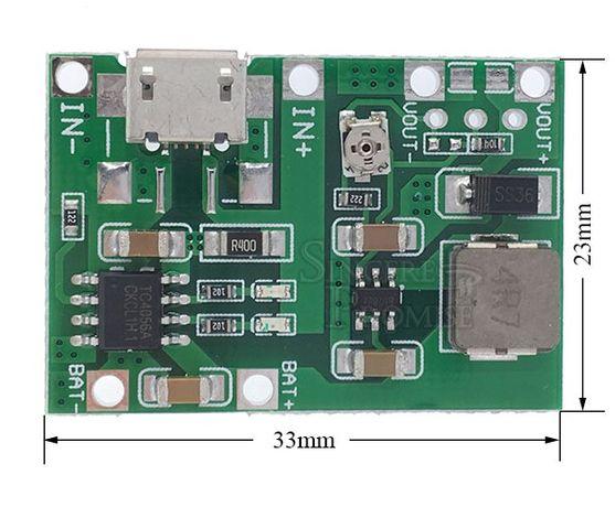 Контроллер заряда Li-Ion аккумуляторов TP4056 + преобразователь