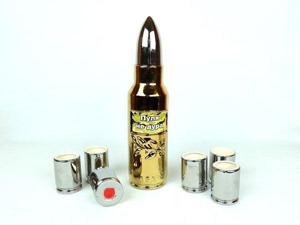 Пуля не дура - подарочный набор для спиртного, крутой подарок мужчине
