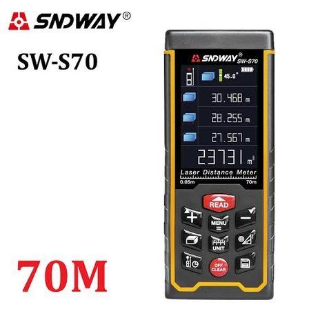 SNDWAY SW-S70 (70 метров) Лазерная рулетка/ Лазерный дальномер