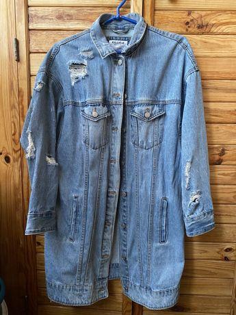 Джинсовая курточка (длинная)