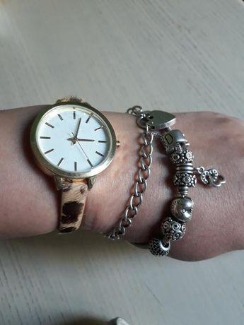Леопардовые часы, натуральная кожа