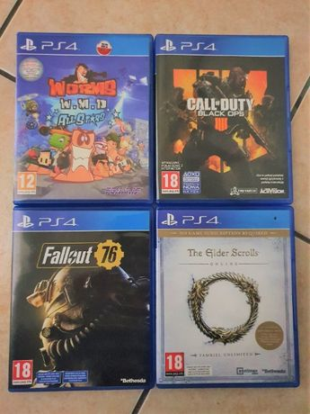 Gry PS4 PL Worms TESO Fallout Call of Duty COD Borderlands Playstation