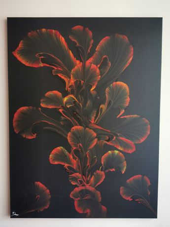 Czarno-czerwone akrylowe szaleństwo