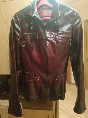 Кожаная куртка курточка весна осень 44 размер