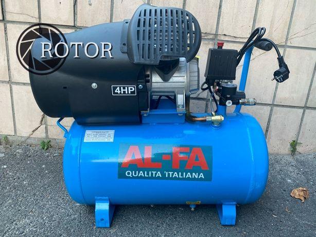 Компрессор Al-fa ALC50V 50л Италия двухцилиндровый 430 л/мин