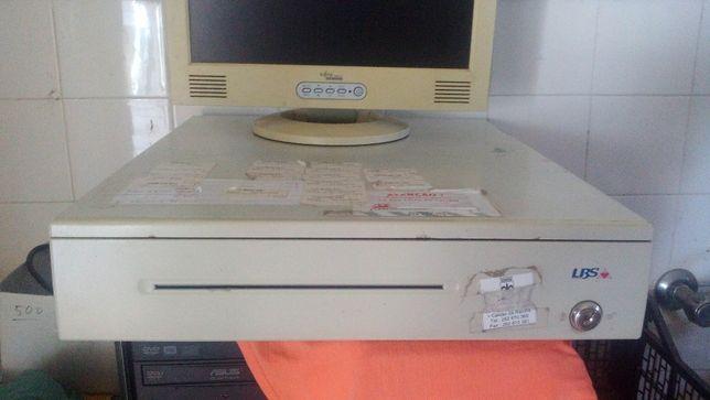 Gaveta PÓS + impressora térmica + monitor