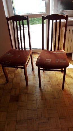 krzesła drewniane vintage retro