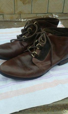 Кожанные ботиночки в отличном состоянии