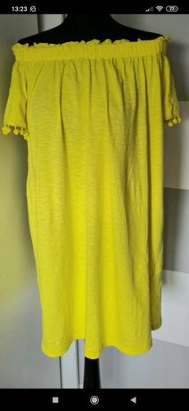 Papaya sukienka hiszpanka neonowa xxl