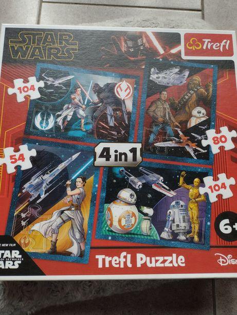 Puzzle Star Wars 4w1 od lat 6 Gwiezdne Wojny