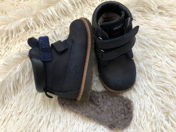 Ботинки мальчику осень зима кожа нубук Alberes 24