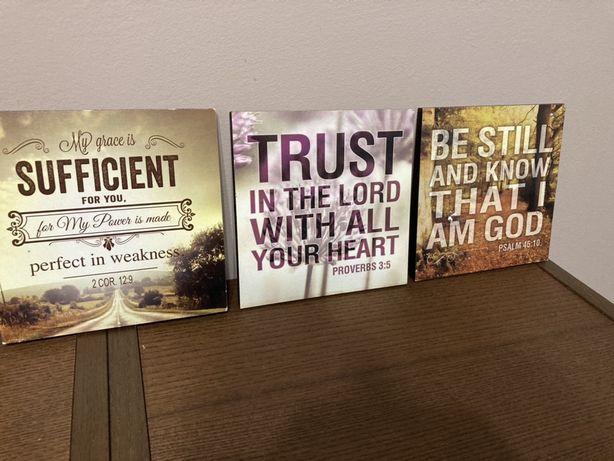 Tabliczki po angielsku, cytaty z Pisma Świętego