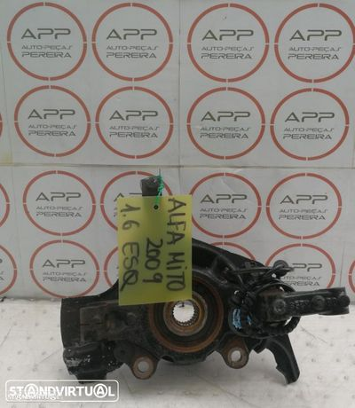 Alfa Romeo Mito de 2009 1.6 MJET, mangas de eixo, amortecedores, braços.