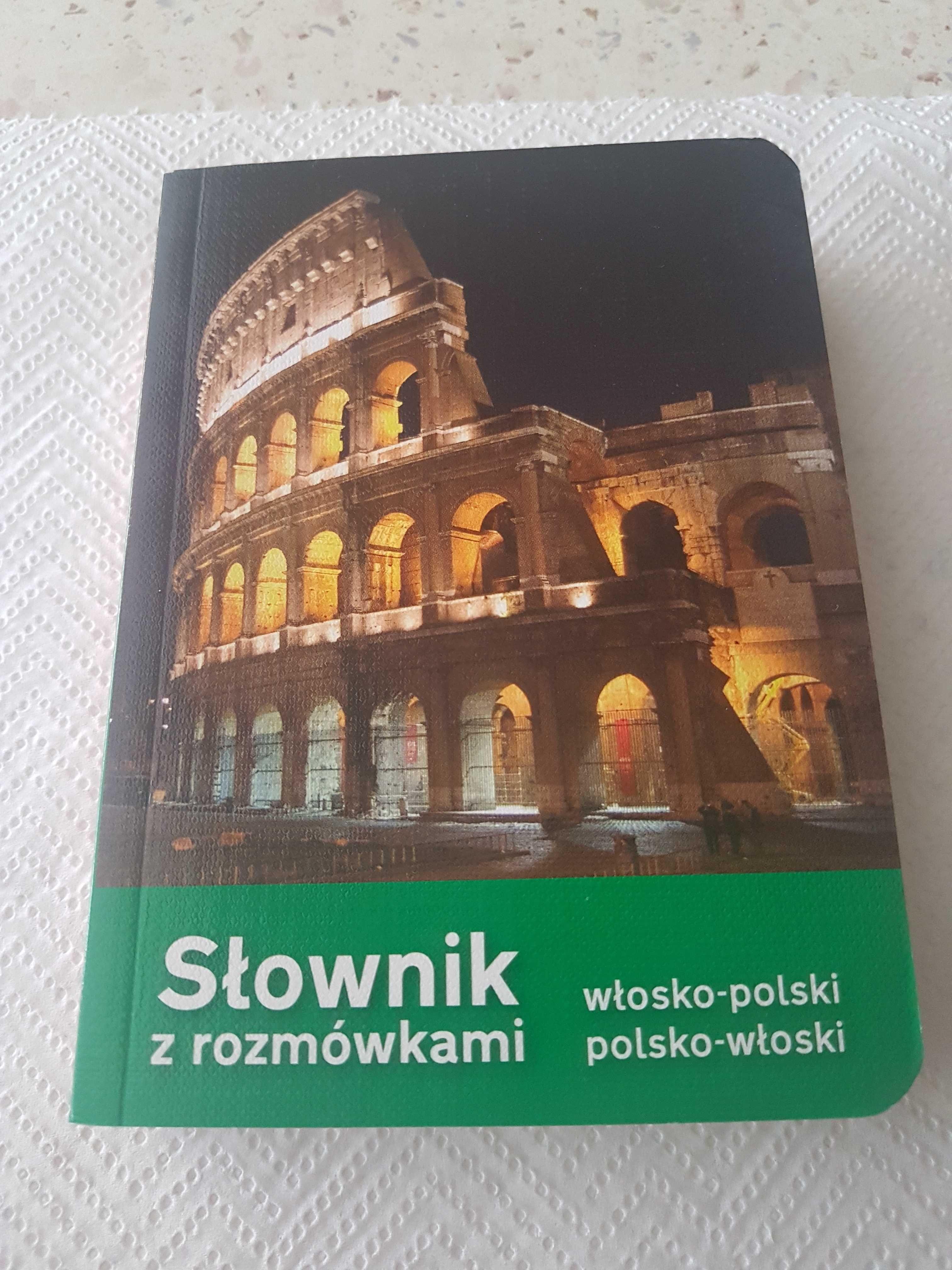 Słownik z rozmówkami włosko-polski i polsko-włoski.