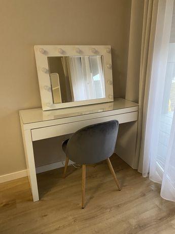 Toaletka lustro hollywood biurko ikea