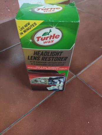 "Kit de Restauro de Faróis ""Headlight Lens Restorer"" Turtle Wax"