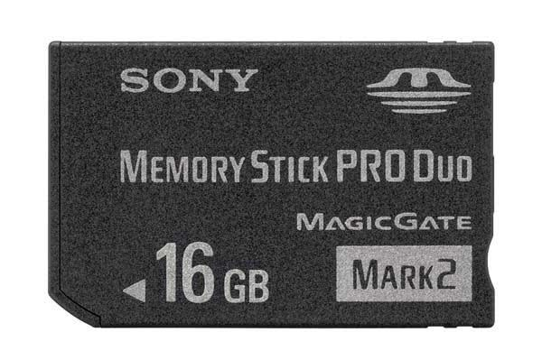 sony memory stick pro duo 16GB