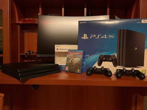 Игровая Приставка PlayStation 4 Pro 1Tb ( 2 Dualshock ) Б\У