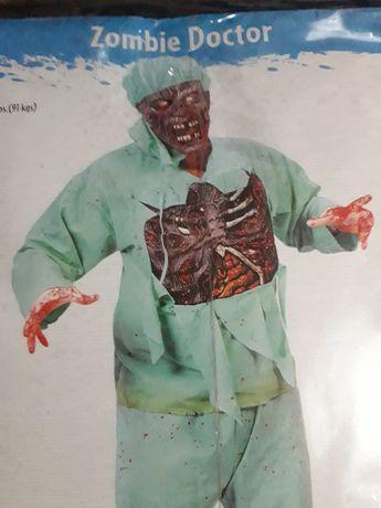 Fato Doutor Zombie Halloween-Carnaval