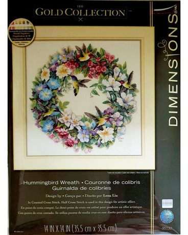 Dimensions Gold Collection   35132 Hummingbird  Wreath