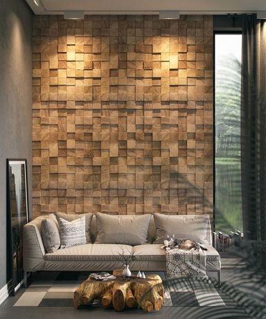 Деревянный декор, обои, плитка, штукатурка, гипсовая плитка, краска
