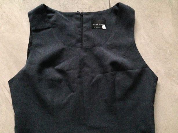 Sukienka czarna grafit matura biuro elegancka M-L