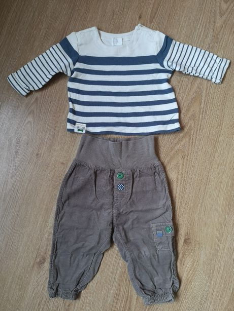 bluzka + spodnie h&m rozmiar 68