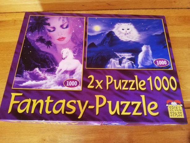 Nowe puzzle 2 układanki w 1 pudełku