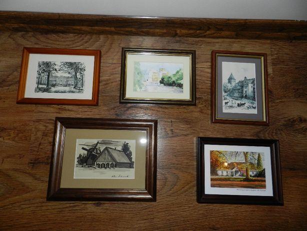 Kolekcja ręcznie malowanych obrazków