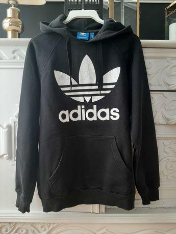 Czarna bluza z kapturem Adidas