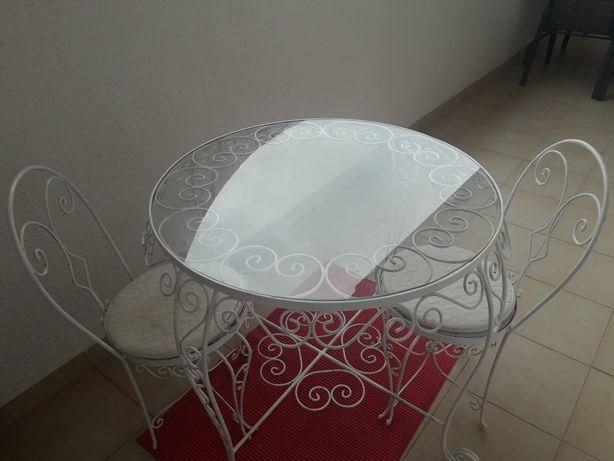 Mesa e cadeiras Ferro Forjado