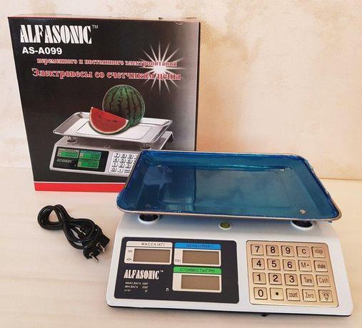 Весы электронные торговые до 55 кг Alfasonik AS-A099 с металлическими