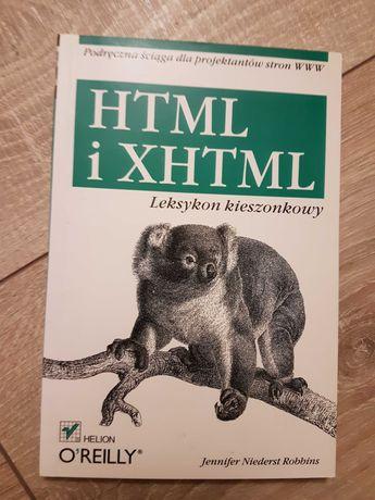 HTML i XHTML Leksykon kieszonkowy książka programowanie informatyka