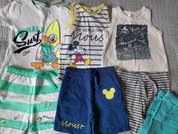 Zestawy letnie dla chłopca spodenki i koszulka