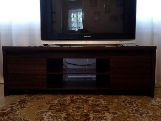 Широкая тумба (стол, полка) под телевизор, цвет Венге