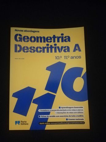 Novas Abordagens Geometria Descritiva 10/11 anos Porto Editora