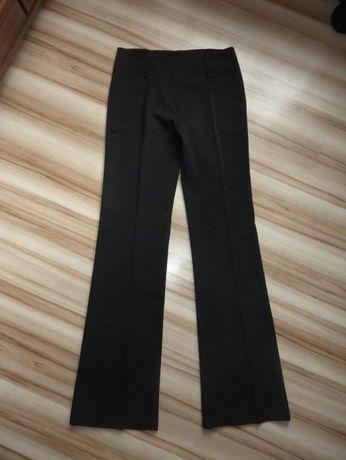 Spodnie Czarne Eleganckie na Kant - XS