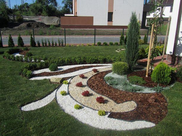 Ландшафтний дизайн. Влаштування рулонного газону. Посів газону